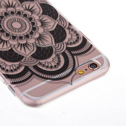 "iPhone 6S Coque,iPhone 6 Bling Case,iPhone 6S Cover - Felfy Ultra Mince Slim Gel TPU Silicone élégant Ultra Thin Bling Plating Case Coque Bumper Cas Housse pour Apple iPhone 6/6S 4.7"" (Losange Violet) Big Flower"