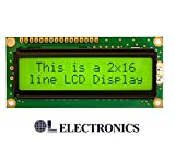 #6: OL ELECTRONICS LCD 16x2 Yellow Backlight Alphanumeric Display for 8051,AVR,Arduino,Raspberry Pi,PIC,ARM
