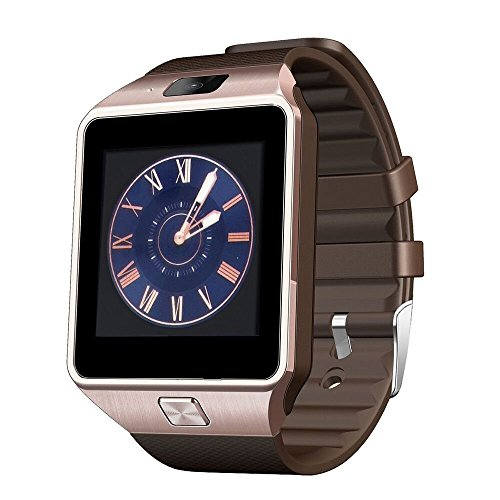 Generic Bluetooth Smart Watch with SIM and 16GB memory card support, Compatible for Android and iOS,Assorted color