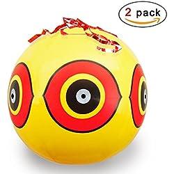 Hemore Vogelabwehr-Ballons, Vogelschädlingsbekämpfung, hält Schädlinge fern von Höfen, Gärten und Bauernhöfen, Abwehr von Specht, Tauben, Spatzen, Grackles, Gänse, 2 Stück