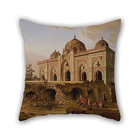 Alphadecor Peinture à l'huile Robert Smith–Le Kila Kona Masjid (Puran Qila, Delhi Housses de coussin 50,8x 50,8cm/50par 50cm Meilleur Choix pour lui, café, maison, salon, voiture, berline, Sol avec chaque S