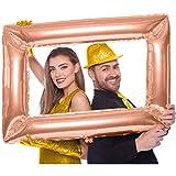 CARPETA® Cadre Photo * Or Rose * Dimensions : 60 x 85 cm, Gonflable, Parfait pour Les Photos de Mariage et de fête