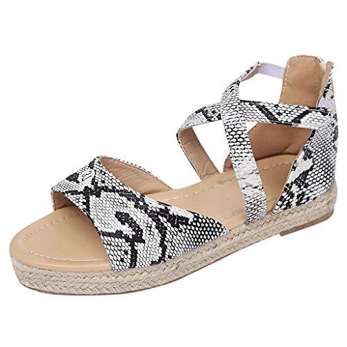 Epig Womens Sommer Hanf Braid Wedges Schuhe Mode Peep Toe Sandalen (Wohnungen Simpson Jessica Schuhe)