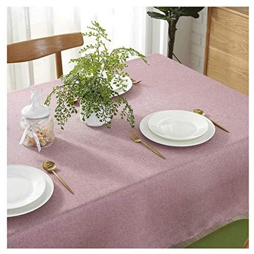Tovaglie impermeabile a prova di olio colore puro pvc tavolo in lino copritavola soggiorno tavoli ristorante tavolo da pranzo tavolino da caffè uomun (colore : pink, dimensioni : 120 * 120cm)