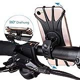 VOYAGO Fahrrad-Handyhalter, Fahrrad-Telefonhalterung Universal-Motorrad-Fahrrad-Telefonhalter einstellbar Silikon Fahrrad Smartphone-Halterung für iPhone Android