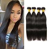 Brazilian Tissage Boucle Naturel Straight Hair Bundle Natural Weave Virgin Cheveux 4 Bundles Perruque Naturelle Human Hair Tissage 14 16 18 20Inch