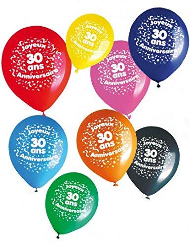 Globos feliz cumpleaños 30 años (x8)