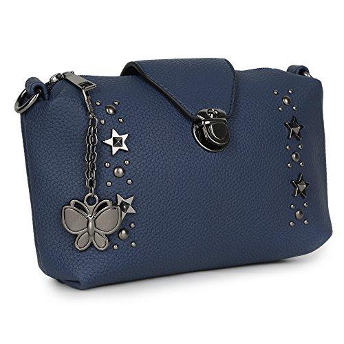 Butterflies Women Sling Bag (Blue) (BNS-B-8031#BL)
