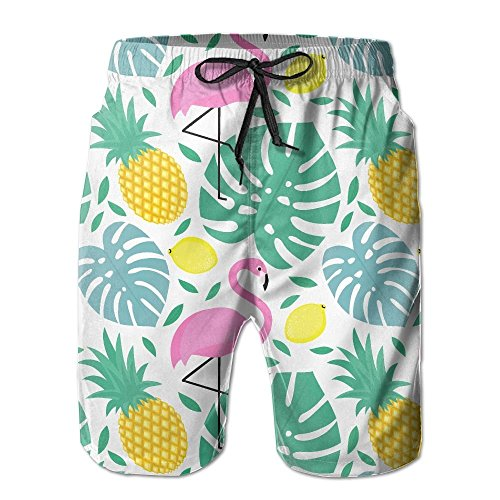 Doormat bag Adults Funny Pineapple Watermelon Boardshorts Elastic Waist Quick Dry Board Shorts XX-Large