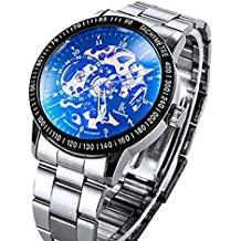 Orologio   ibay wish gift display  cinturino Acciaio inossidabile Argento e quadrante Nero  GZIE-04