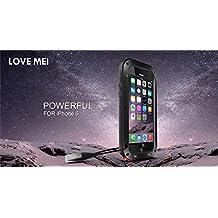 Love Mei - Funda iPhone 6S Carcasa Aluminio iPhone 6 Love Mei Extreme Alta Resistencia Protector iPhone 6S Shockproof Military Heavy Duty Protector Cover