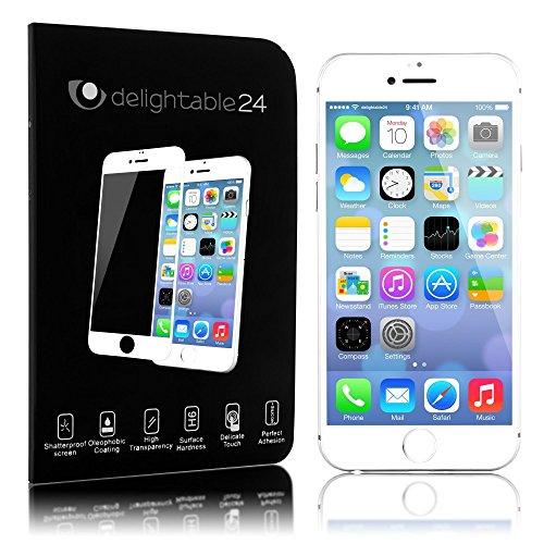 NALIA Schutzglas kompatibel mit iPhone 6 / 6S, Full-Cover Displayschutz Handy-Folie, 9H Härte Glas-Schutzfolie Bildschirm-Abdeckung, Schutz-Film Screen Protector Tempered Glass - Transparent (weiß)