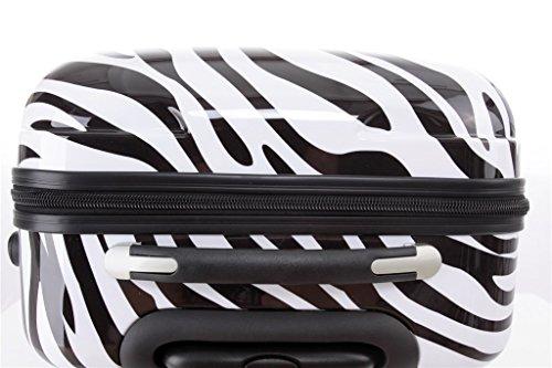Reisekoffer 2060 Hartschalen Trolley Kofferset in 12 Motiven SET--XL-L--M-- Beutycase (Zebra, 3er Set(XL+L+M)) - 5