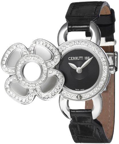 Cerruti - 4340604 - Montre Femme - Quartz - Analogique - Bracelet Cuir Noir