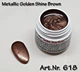 5 ML UV Exclusiv Farbgel Metallic Golden Shine Brown