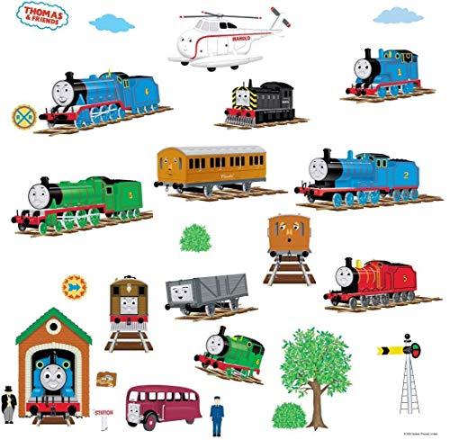 RoomMates Thomas et Ses Amis Stickers muraux, Multicolore, 12.7x 2.2x 27cm