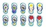 Kühlschrank Magnete Set Schildkröte Kühlschrankmagnete Lustige Dekorative Fridge Magnets Nette Küche Eisen Schließfächer Büro etc Zubehör Geeignet für Kleinkinder und Erwachsene(Blau Flip Flops)