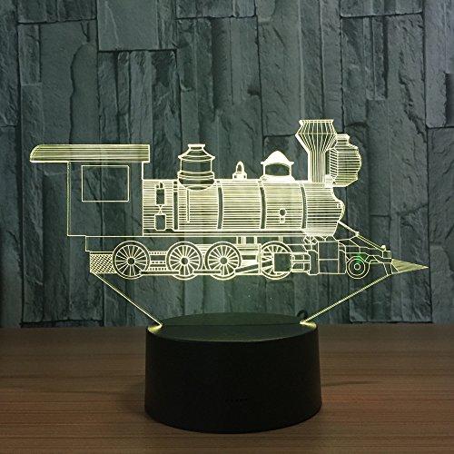 3D Nachtlicht-Lokomotive Alter Zug 3D Visuelle Illusion Lampe Transparent Acryl Nachtlicht Led Farbwechsel Touch Tisch Bulbing Lambas