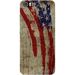 Casotec Vintage American Flag Design Hard Back Case Cover for Xiaomi Mi 5