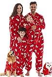 Jumpsuit Halloween Kostüm Anzug Baby Mädchen Junge Schlafanzug Lang Pajama Onepiece Tier Anzug Einteiler Fleece Overall Winter Weihnachten Familie Set,Rot,Baby: 7-12 Monate