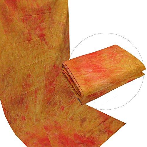 Fotostudio Motiv Stoff Hintergrund DynaSun W094 2,8x4,0 DiscoOrange Struktur Dicke Baumwolle 120g/qm