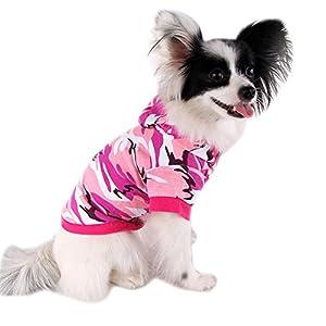 Wodery Dog Pet Fashion Tenue de camouflage chandail chaud costume Puppy Manteau d'hiver chaud, XS / S / M / L