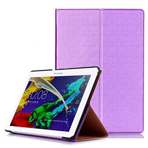 Hülle für Lenovo Tab 2 A10-30 A10-70F / Tab 10 TB-X103F 10.1 Zoll Slim Case mit Auto Sleep/Wake + Touchpen Lila