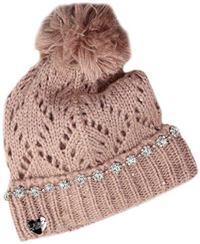 Betsey Johnson Women's on The Rocks Cuff Hat, Blush, One Size (Rock Betsey Johnson)