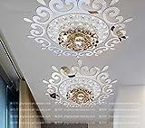 JWQT Stereo-Kristallbeleuchtung, Spiegelwand, eingeklebtes Restaurant, Schlafzimmerkorridor, Wandspiegel, Restaurant, dreidimensionaler Wandaufkleber, Silberner Spiegel, groß