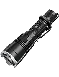Nitecore MH27 USB Rechargeable Flashlight - With Cree XP-L HI V3 LED - 1000 Lumens - Uses 1 x 18650 or 2 x CR123 Battery (Battery & Charger to be bought separately) RGB LED Strobe Setting S.O.S. Setting Location Beacon Red/Blue Warning Sign