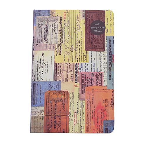 ManasUK A5 Notebook Retro Style Coloring Page Personality Carta Kraft creativa Illustrazione Mood Diary, 14 x 21.5cm (nero)