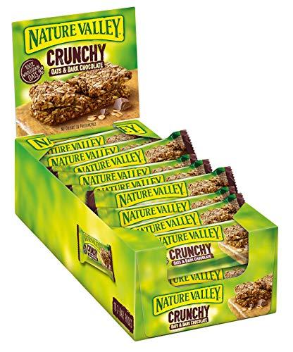 Nature Valley Crunchy Hafer & Dunkle Schokolade, Müsliriegel, 18x2-Bar Pack (18 x 42g) - Natur-pack