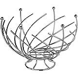 SECRET DE GOURMET - Frutero original y de diseño - Forma de espiral - Color gris cromado