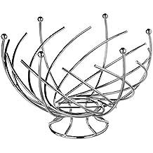 SECRET DE GOURMET - 744801 - Corbeille à fruits Design et Originale - Forme Spirale - Gris