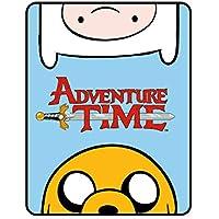 Adventure Time - Coperta di pile, 120 x 150 cm, 100% poliestere, multicolore