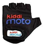 Kiddimoto 2glv009m - Sport und Fahrrad Handschuhe für Kinder Design, Größe M, ab 5 Jahre, schwarz