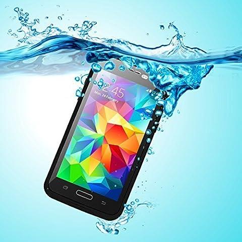 Galaxy S5 Etui Imperméable, iThrough™ Galaxy S5 Boîtier étanche, Antipoussière,Anti-neige, Antichoc Avec un écran Protecteur Portant Couverture Etui inclut un Câble pour Samsung Galaxy S5