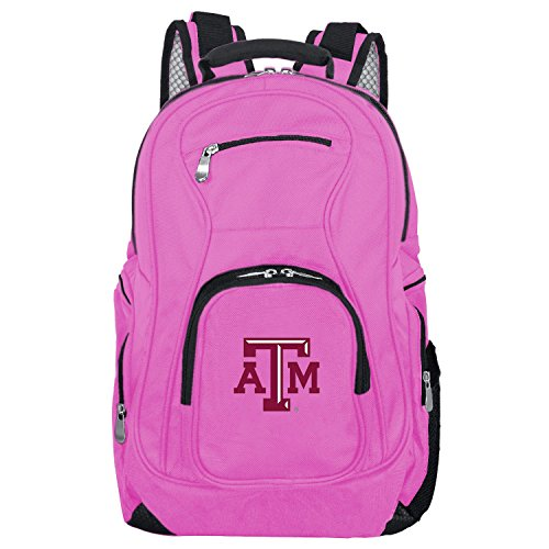 DENCO NCAA Texas A&M Aggies Voyager Laptop Backpack, 19-inches, Pink Texas A&m Aggies Computer