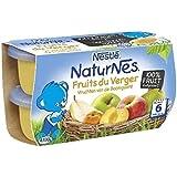 Nestlé naturnes compote de fruits du verger 4 x 130g dès 6 mois - ( Prix Unitaire ) - Envoi Rapide Et Soignée