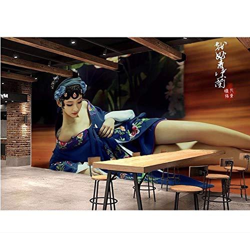 Gewohnheit Kostüm - Ytdzsw Benutzerdefinierte Mural 3D Wallpaper Chinesische Theatrical Kostüm Schönheit Dekor Malerei 3D Wandbilder Wallpaper Für Wohnzimmer Wand 3D-350X245Cm