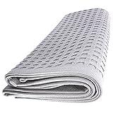 Handtuch Gästetuch in Wafel Pikee 100 x 50 cm aus Baumwolle / grau