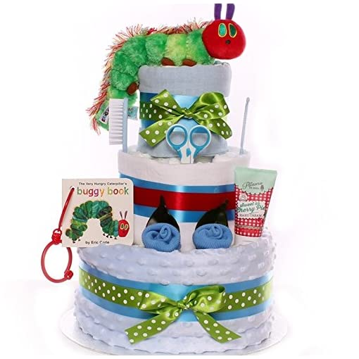 2 Tiers The Very Hungry Caterpillar Nappy Cake
