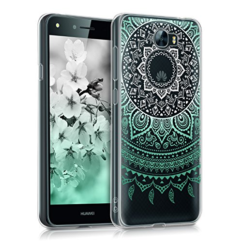 kwmobile Crystal Case Hülle für > Huawei Y6 II Compact < - TPU Silikon Cover im Indische Sonne Design