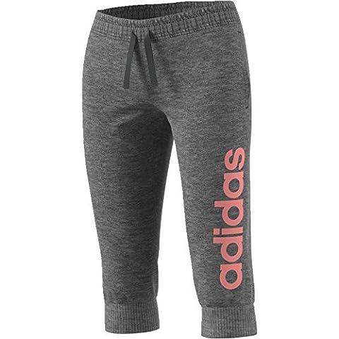 adidas Damen Essentials Linear 3/4 Hose, Dgreyh/Tacros, S