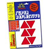 Safe-Tee Reflective RED TRIANGLE Safety Stickers