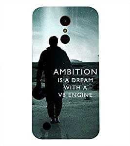 LG K10 2017 AMBITION DREAM QUOTE PRINTED BACK CASE COVER by SHAIVYA