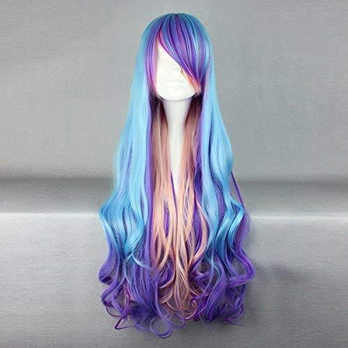 Kostüm Verschiedene Cosplay - Tonpot Beauty Wig Damen Perücke, gewellt, lockiges Haar mit Pony, Verschiedene Farbverlaufsperücke, Styling, Kostüm, Cosplay-Zubehör