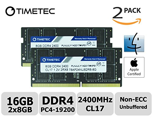 Price comparison product image Timetec Hynix IC Apple 16GB Kit (2x8GB) DDR4 2400MHz PC4-19200 SODIMM Memory Upgrade For iMac Retina 4k / 5K 21.5-inch / 27-inch Mid 2017