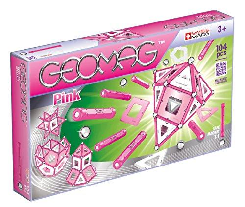Geomag Panels pcs 344 Classic Pink Sistema di Costruzioni Magnetico, 104 Pezzi