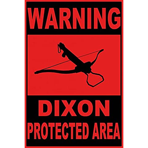 Zombies - Warning Dixon Protected Area Póster Impresión Artística (180 x 120cm)